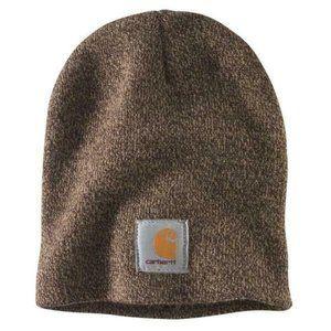 Carhartt Mens One Size OFA Dark Brown Knit Hat